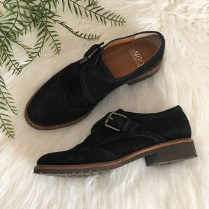Sarto by Franco Sarto • Black Suede Oxford Loafers